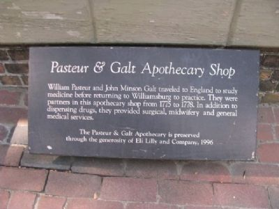 Pasteur & Galt Apothecary Shop Marker Photo, Click for full size