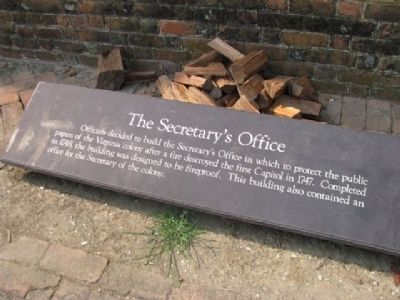 The Secretary's Office Marker Photo, Click for full size