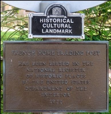 Marker Showing French Trading Post is in the National Registry of Historic Places image. Click for full size.