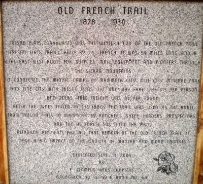 Old French Trail Marker image. Click for full size.