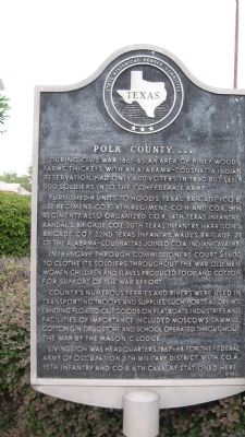 Polk County, C.S.A.. Marker image. Click for full size.