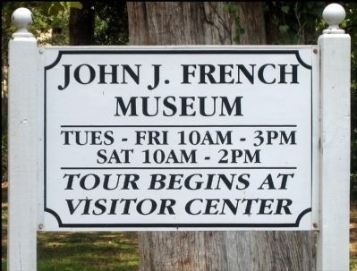 French Trading Post Museum Sign Photo, Click for full size
