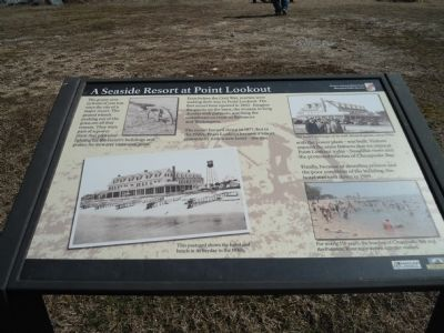 A Seaside Resort at Point Lookout Marker image. Click for full size.