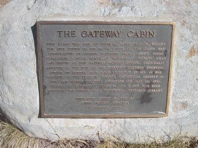 The Gateway Cabin Marker image. Click for full size.