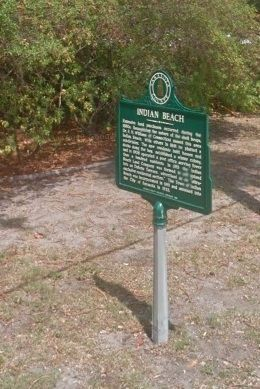 Indian Beach Marker image. Click for full size.