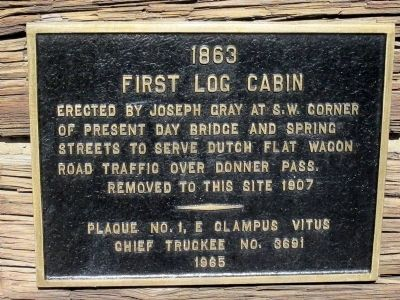 First Log Cabin Marker Photo, Click for full size