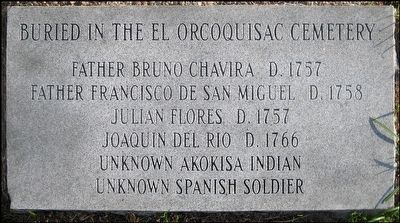 Foot Stone Listing People Buried in the Orcoquisac Cemetery image. Click for full size.