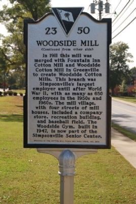 Woodside Mill Marker Photo, Click for full size