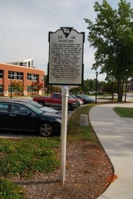 Mauldin Marker<br>Front Photo, Click for full size