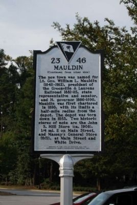 Mauldin Marker<br>Reverse Photo, Click for full size