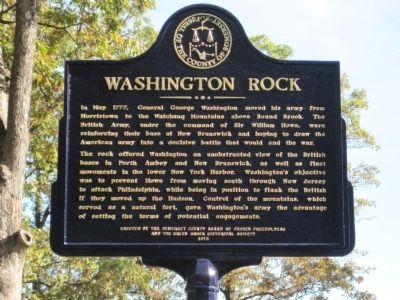 Washington Rock Somerset County Marker image. Click for full size.