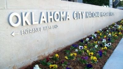 Oklahoma City National Memorial & Museum Sign Photo, Click for full size