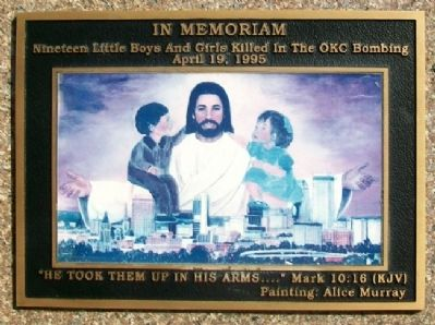 Oklahoma City Bombing Children's Memorial Marker Photo, Click for full size