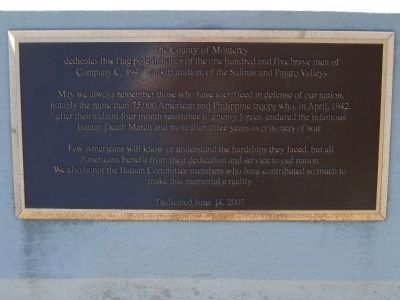 Flag Pole Dedication Plaque image. Click for full size.