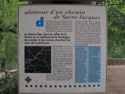 Alentour d�un Chemin de Saint-Jacques plaque image. Click for full size.