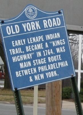 Additional Old York Road Marker in Ringoes Photo, Click for full size