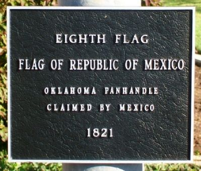 Flags Flown Over Oklahoma Marker Photo, Click for full size