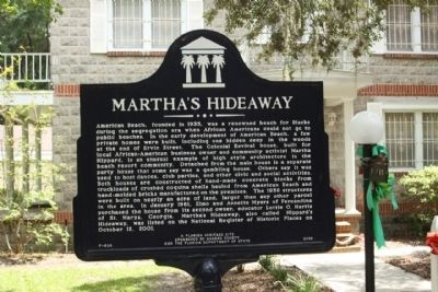 Martha's Hideaway Marker image. Click for full size.