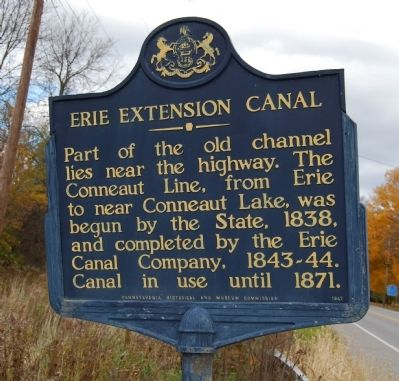 Erie Extension Canal Marker Photo, Click for full size