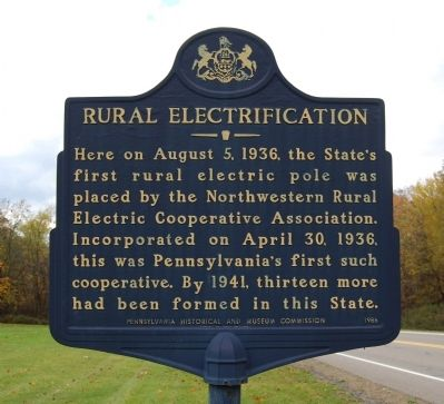 Rural Electrification Marker Photo, Click for full size