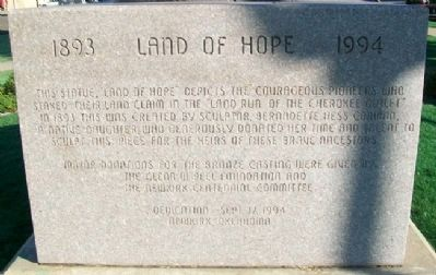 Land of Hope Monument image. Click for full size.
