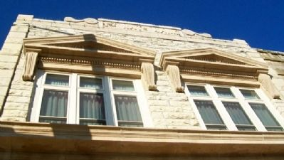 First National Bank Window Detail image. Click for full size.