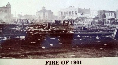 Photo of Fire of 1901 on Marker image. Click for full size.