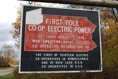 First Pole Co-Op Electric Power Photo, Click for full size