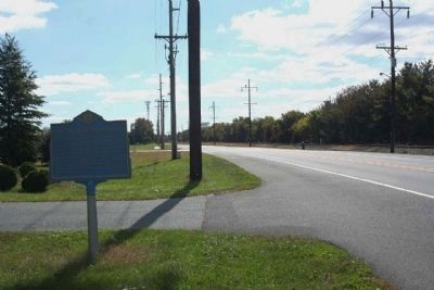 Governor Ross Mansion Marker, looking south along Ross Station Road Photo, Click for full size