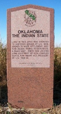 Oklahoma, The Indian State Marker image. Click for full size.