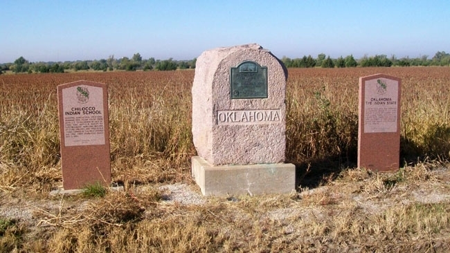 Chilocco Indian School, Cherokee Strip DAR, and Oklahoma, The Indian State Markers