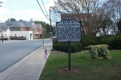 Birthplace of Governor Wise Marker along Front Street Photo, Click for full size