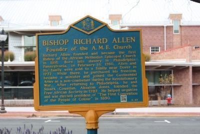 Bishop Richard Allen Marker, now sporting QR Code, lower right Photo, Click for full size
