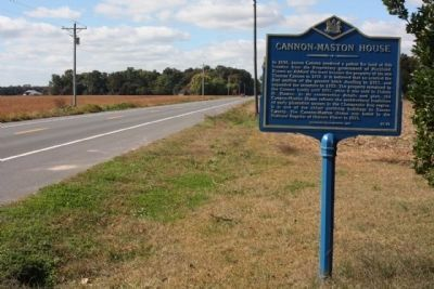 Cannon-Maston House Marker, looking north along Atlanta Road Photo, Click for full size