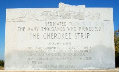 The Cherokee Strip Marker Photo, Click for full size