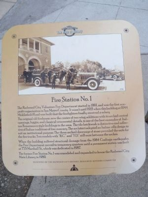 Fire Station No. 1 Marker Photo, Click for full size