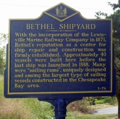 Bethel Shipyard Marker image. Click for full size.