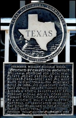Fredrick William Beissner House Marker image. Click for full size.