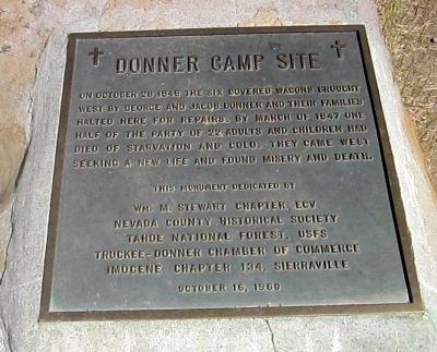 Donner Camp Site Marker Photo, Click for full size