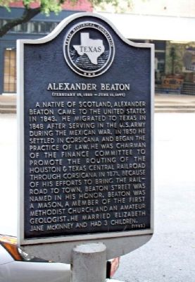 Alexander Beaton Marker image. Click for full size.