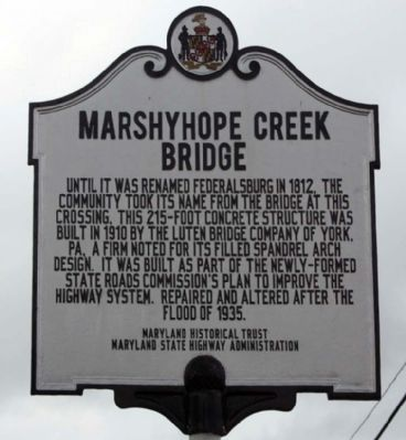 Marshyhope Creek Bridge Marker Photo, Click for full size