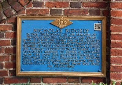 Nicholas Ridgely Marker, with 2012 paint scheme and QR Code (upper right) added on image. Click for full size.