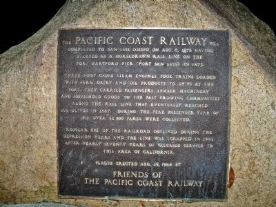 Pacific Coast Railway Marker image. Click for full size.