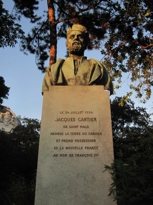 Jacques Cartier Marker Photo, Click for full size