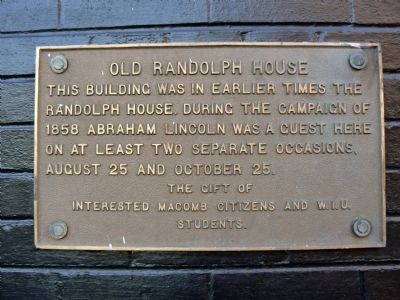 Old Randolph House Marker image. Click for full size.
