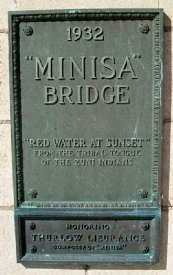 """Minisa"" Bridge Marker Photo, Click for full size"