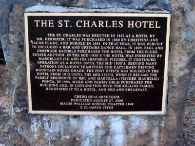 The St. Charles Hotel Marker image. Click for full size.