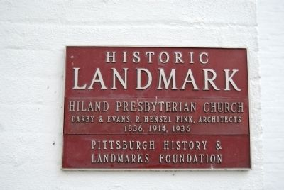Hiland Presbyterian Church Marker Photo, Click for full size