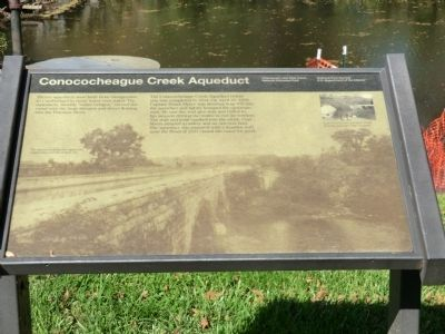 Conococheague Creek Aqueduct Marker image. Click for full size.