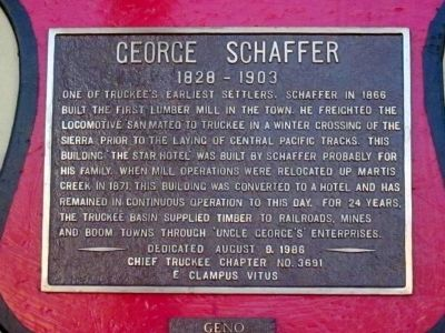George Schaffer Marker Photo, Click for full size